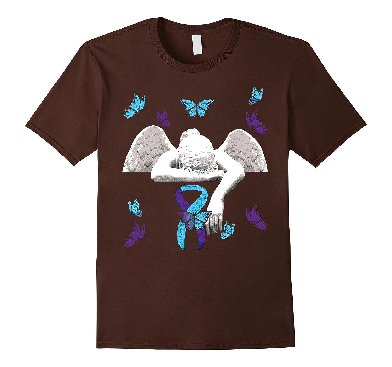 Suicide Awareness T Shirt Ribbon Butterflies-Tovacu