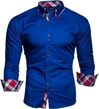 Kayhan Hombre Camisa Manga Larga Slim Fit S M L XL 2XL 3XL 4XL 5XL 6XL: Amazon.es: Ropa y accesorios