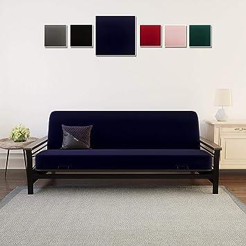 Astonishing Dhp Futon Mattress Cover Removable Machine Washable Slipcover For Full Size Futon Mattress Furniture Protector Blue Uwap Interior Chair Design Uwaporg