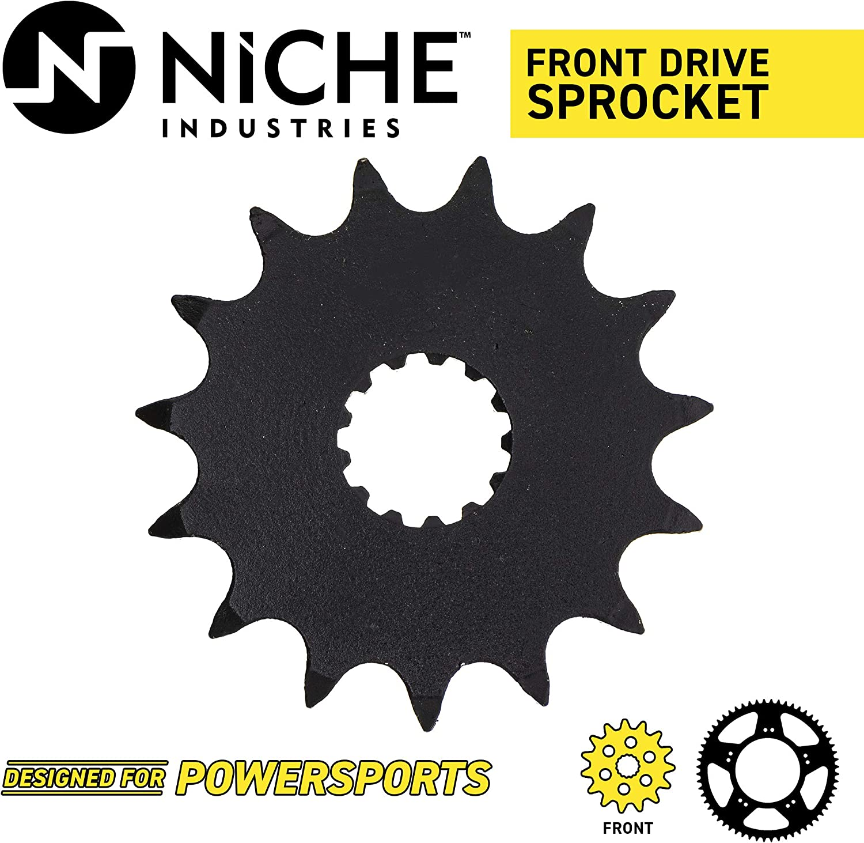 NICHE Drive Sprocket Chain Combo for Kawasaki Ninja ZX6R ZZR600 Front 15 Rear 44 Tooth 525HZ Standard 108 Links