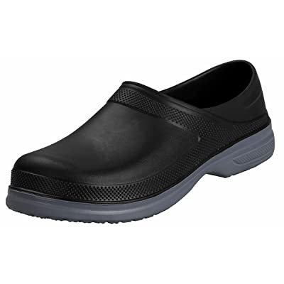 4How Mens Waterproof Non Slip Work Clogs Oil Resistant Chef Shoes Safety Garden Shoes: Shoes
