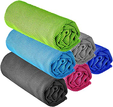 Sweatband /& Towel Set of 4 Non Slip Cotton Headband//Wristbands//Gym Towel Package Basketball Tennis Cycling Sports Absorbent Rapid Cool Relief Lightweight Microfiber Towel