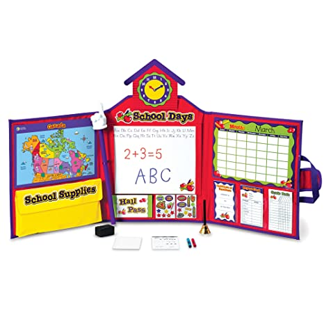 Amazoncom Learning Resources Pretend Play School Set With