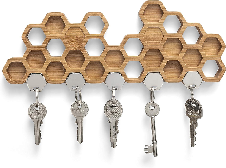 Magnetic Key Holder 5 Key Hooks Amazon Co Uk Kitchen Home