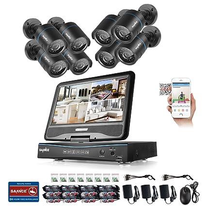 SANNCE Kits 8 cámaras de vigilancia sistema de seguridad (H.264 Onvif 8CH DVR