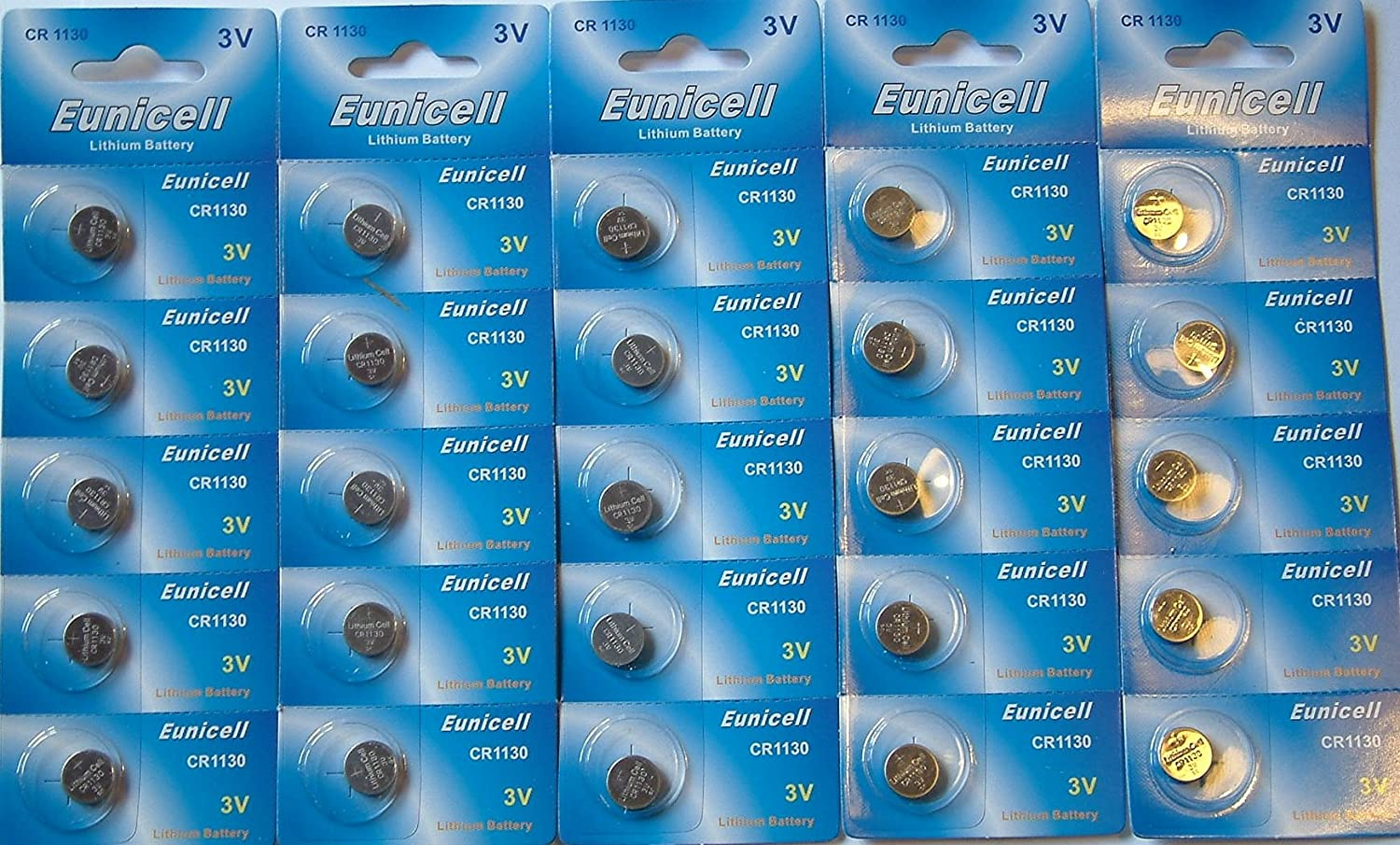25 x Eunicell CR1130 3 V batterie al litio