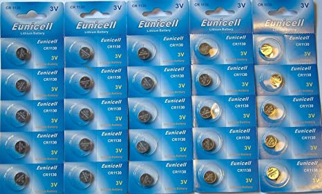 5 x Eunicell CR1130 3v Lithium Batteries