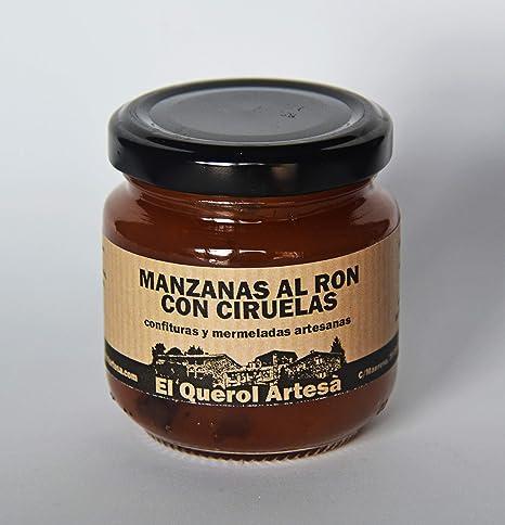 Mermelada Artesana de MANZANAS AL RON CON CIRUELAS. 170gr ...