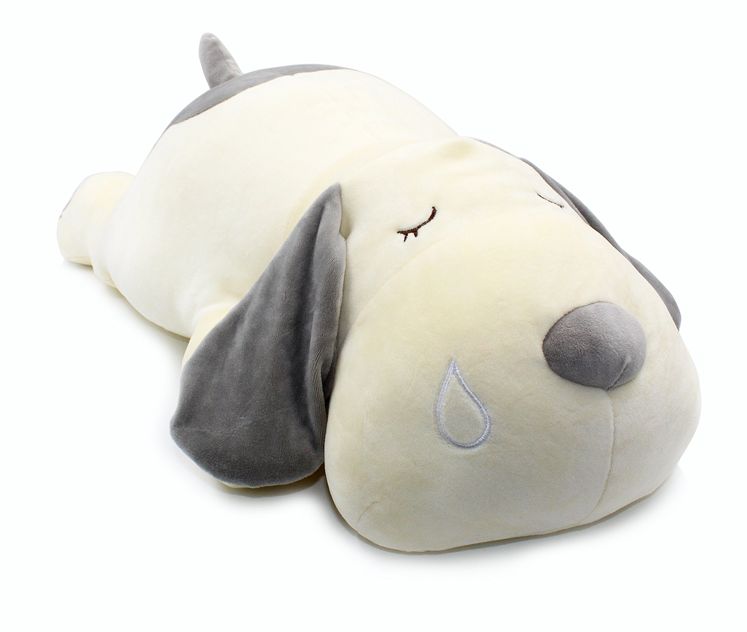 Vintoys Very Soft Dog Big Hugging Pillow Plush Puppy Stuffed Animals Gray 23.5''