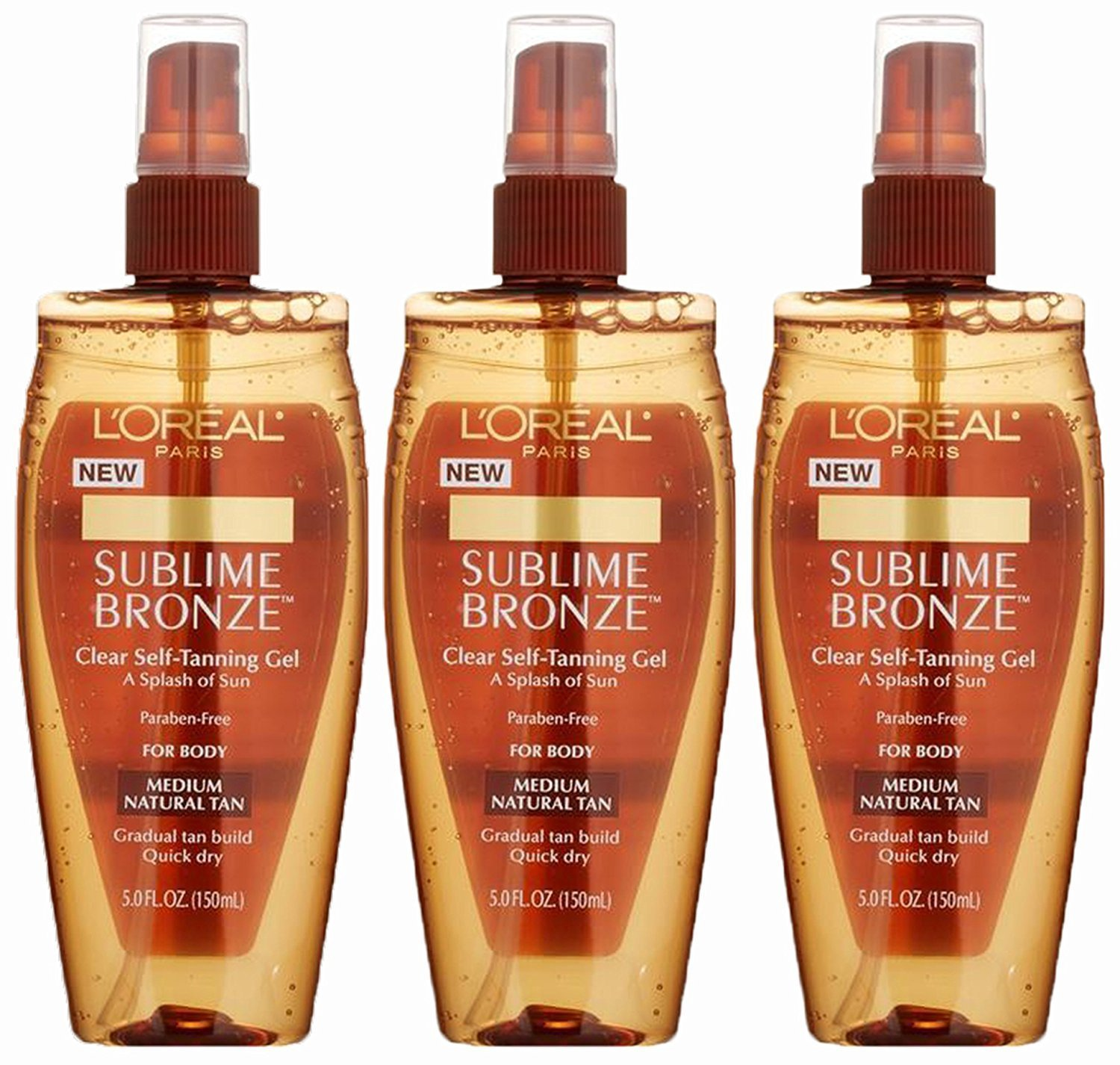 L'oreal Paris Sublime Bronze Clear Self-tanning Gel, 5.0 Ounce (Pack of 3)
