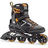 Rollerblade Macroblade 80 Men's Adult Fitness Inline Skate, Black and Orange, Performance Inline Skates