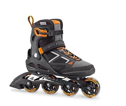 848b2ed0357 Rollerblade Macroblade 80 Mens Adult Fitness Inline Skate - Black/Orange -  80 mm /
