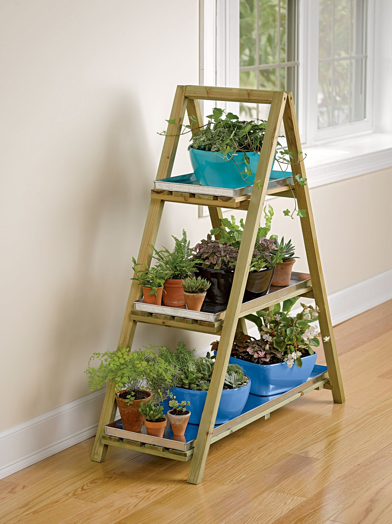 A-Frame Plant Stand & Tray Set