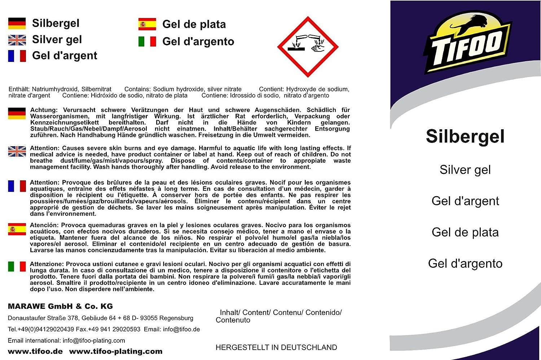 Gel de plata (250 ml) - Alternativa para el electrolito de plata - Crema de plata para el ennoblecimiento de metal en grandes superficies: Amazon.es: ...