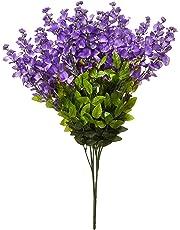 Artificial Wisteria - Flores de arbusto Artificiales para Colgar, 15 Tallos para el hogar, Boda, Restaurante y Oficina, arreglos de decoración