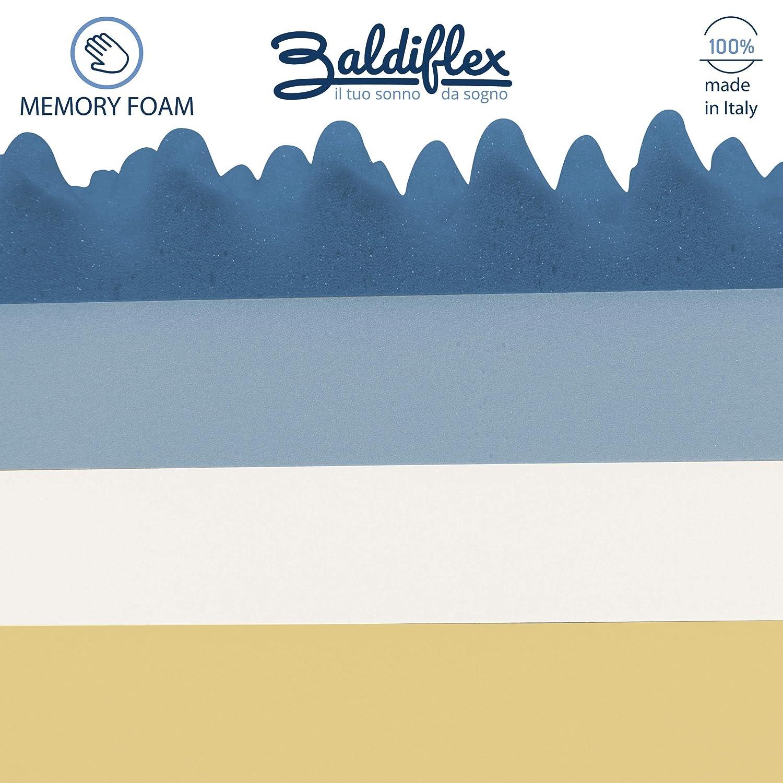 Baldiflex - colchón de Espuma viscoelástica de Matrimonio, Super Dream, 7 cm de Espuma viscoelástica, 27 cm de Altura, Forro de Aloe 3D, tamaño 160 x 190 x ...