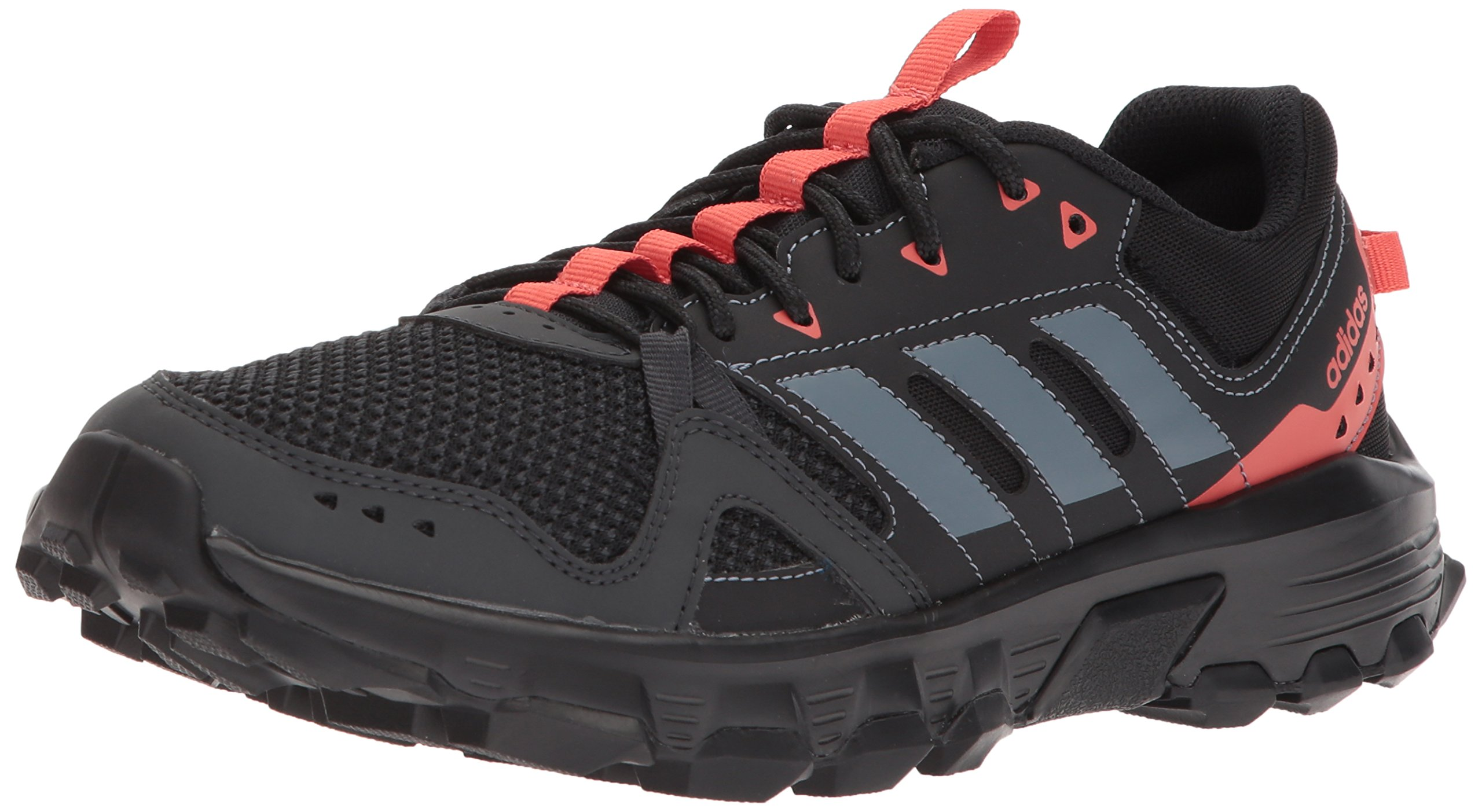 adidas Women's Rockadia w Trail Running Shoe, Carbon/Raw Steel/Trace Scarlet, 5.5 M US by adidas (Image #1)