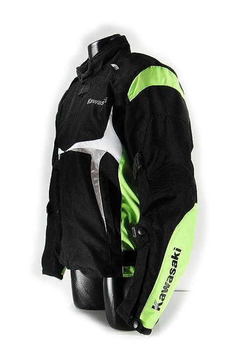 Kawasaki Sports textil Chaqueta verde. Moto Chaqueta. NUEVO. Talla L Negro Verde Blanco de bikerworld: Amazon.es: Coche y moto