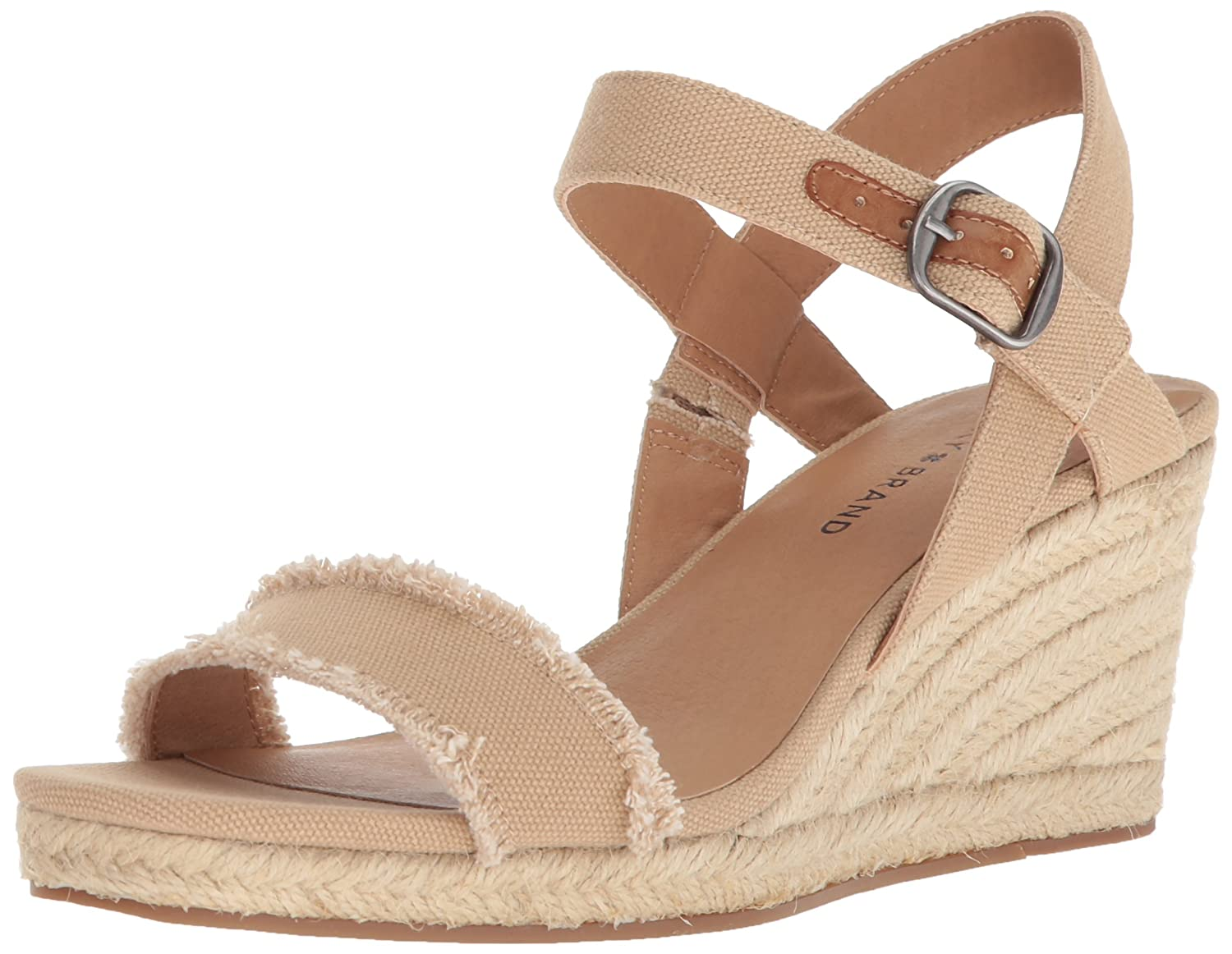 Lucky Brand Women's Marceline Espadrille Wedge Sandal B077G783JW 8 M US|Travertine