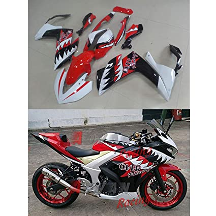 a69434eb85c Amazon.com: Moto Onfire ABS Injection Mold Plastic Fairings Kits Fit for  2015 Yamaha YZF-R3/R25 2016 YZF R3 (Red Black): Automotive