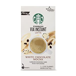 Starbucks VIA Instant White Chocolate Mocha Latte (1 box of 5 packets)