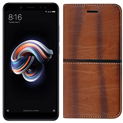 big sale b0213 8c7f5 Roxel Redmi Note 5 Pro Rich Boss Leather Flip Cover: Amazon.in ...