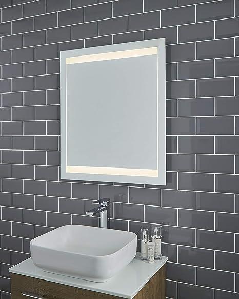 Amazon Com Pebble Grey 28 X 32 Frameless Bathroom Vanity Mirror Home Kitchen