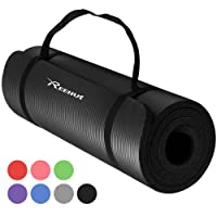 REEHUT Yoga Mat 12mm Extra Thick High Density NBR Exercise Mat for Pilates, Fitness & Workout with Carry Strap