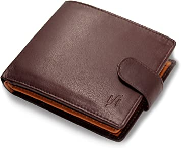 Designer Mens Luxury Trifol Brown Leather Wallet by Prime Hide RFID Blocking NEW