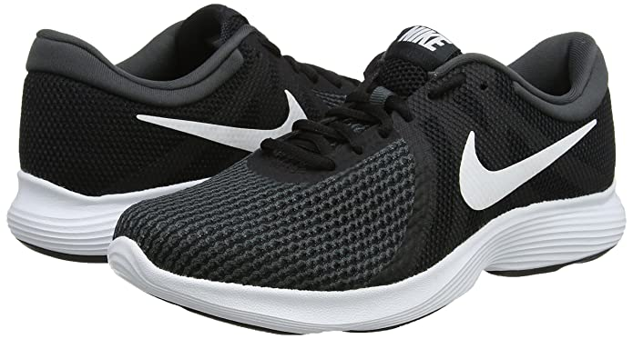 Amazon.com | Nike Ladies Revolution 4 Running Shoe (EU) Black/White | Road Running