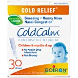 Boiron Coldcalm Baby, 30 Doses. Baby Cold Relief Drops for Sneezing, Runny Nose, and Nasal Congestion, Non-drowsy, Sterile Single-use Liquid Oral Doses with Natural Active Ingredient