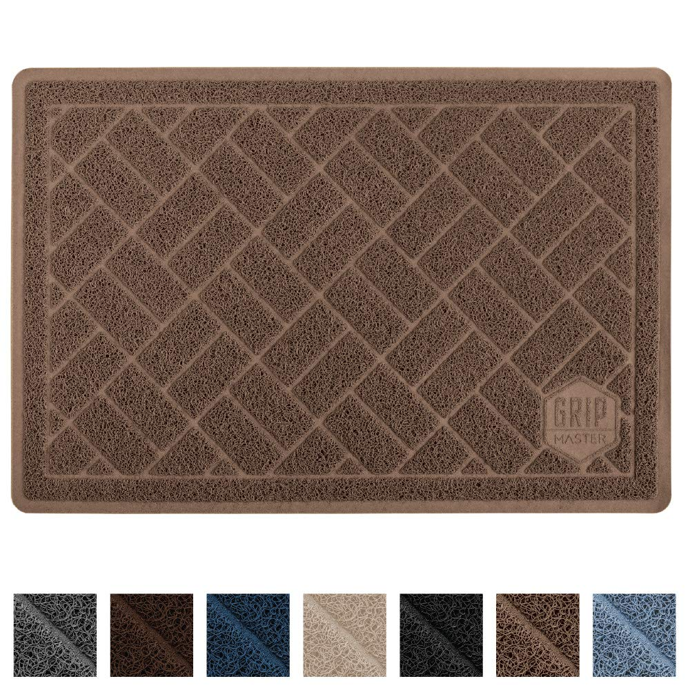 Mocha Extra Large (35\ Mocha Extra Large (35\ GRIP MASTER Durable Premium Cat Litter Mat (35x23), Highly Effective, XL Jumbo, No Phthalate, Water Resistant, Traps Litter from Box and Cats, Scatter Control, Mats Soft on Kitty Paws (Mocha)