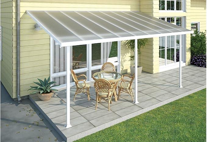 Palram - Cubierta de aluminio para terraza, 300 x 546 cm, incluye fijación, color blanco: Amazon.es: Jardín