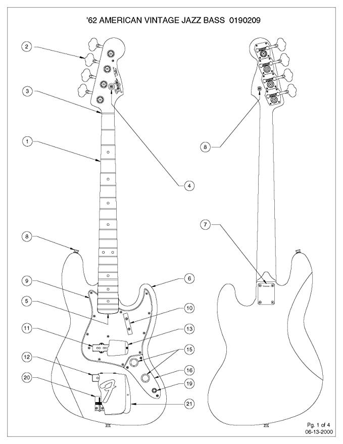 Sh 4 Bass Humbucker Pickups Wiring Diagram