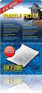 Exo Terra Turtle Filter Odor Reducing Pad, Replacement Filter Media for Aquatic Turtle Terrarium, PT3639