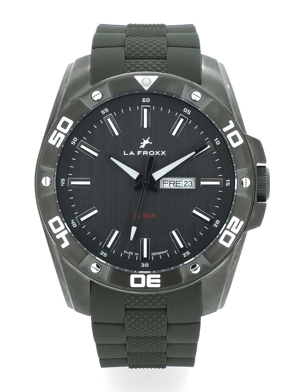 LA FROXX BEACH DAY Herren Armbanduhr analog Quartz Edelstahl grau Silikonband 50 BAR wasserdicht 1695.59.72