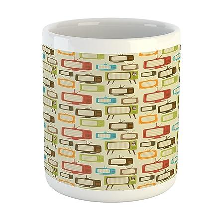 Review Lunarable Retro Mug, Colorful