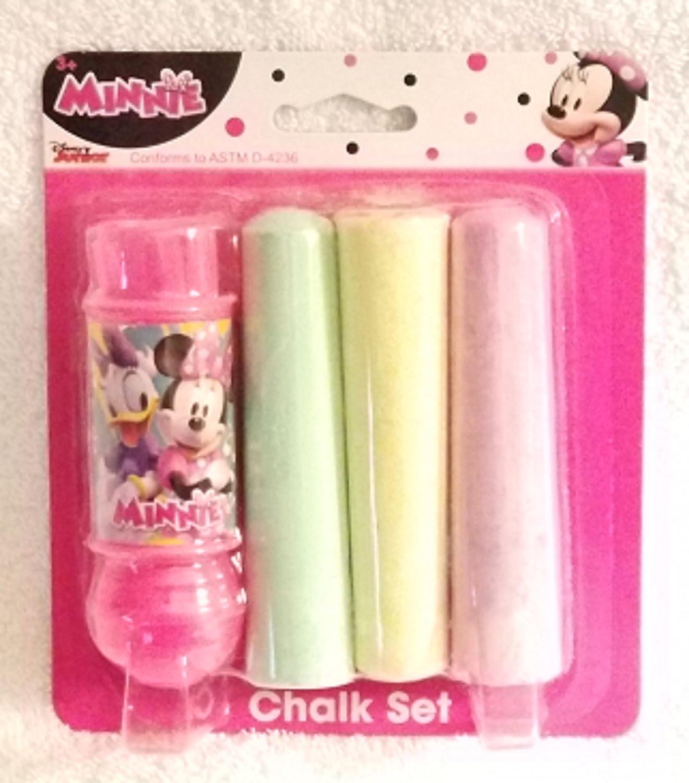 Sidewalk Chalk Disney Minnie 4 Piece Chalk Set - 1 Chalk Holder & 3 Pieces of Colorful Jumbo Chalk Innovative Ddesigns