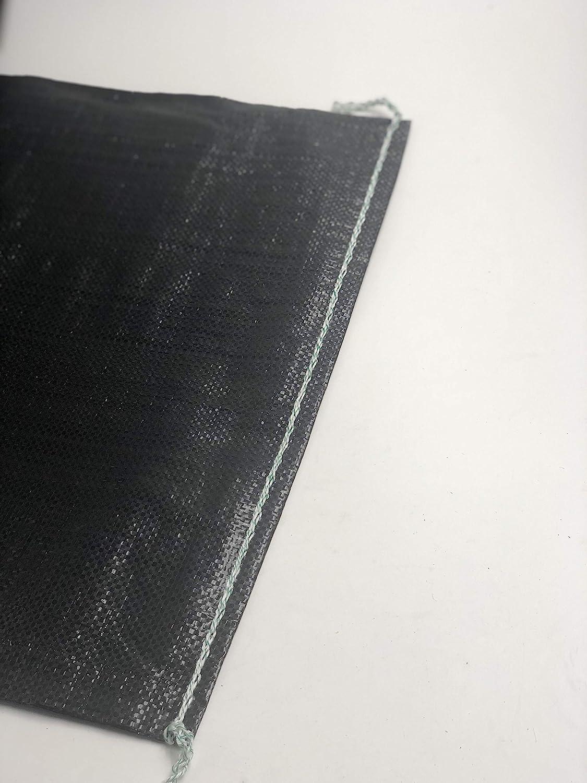 FAMI HD Sandbags 4000 UV HR 16x 25 Empty Black Woven Polypropylene Sandbags 10 Pack