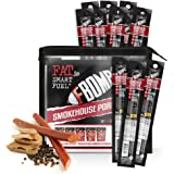 FBOMB Keto Meat Sticks - Sugar Free, Healthy Jerky Sticks | 100% Natural, Non-GMO Nitrite Nitrate Free Pork | High Protein, Low Carb, Gluten Free, Paleo, Whole 30, Keto Snack Sticks | Smokehouse 12 Ct