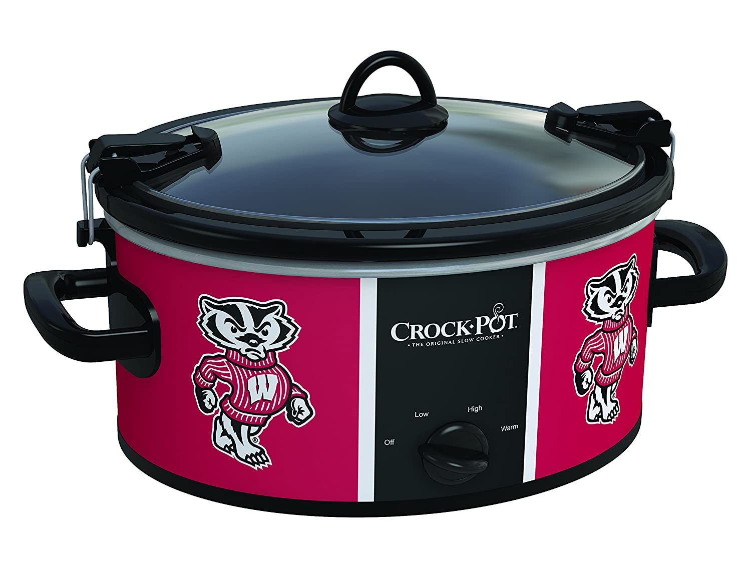 Wisconsin Badgers Collegiate Crock-Pot Cook & Carry Slow Cooker, 6 Quart