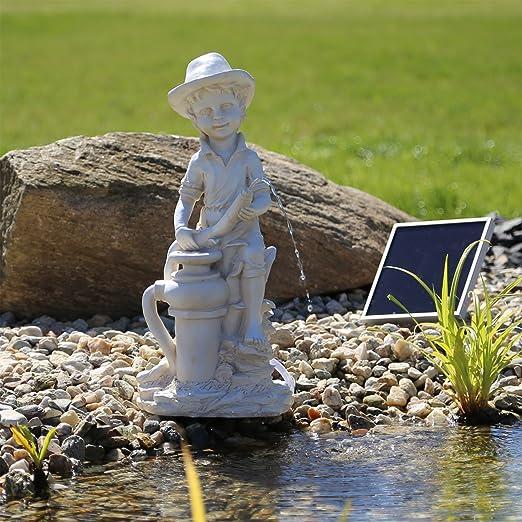 CLGarden NSP11 Fuente solar Bübchen Energía solar del agua de la charca, Fuente de jardín, parte fuentes de agua para estanque o agua Platillos: Amazon.es: Jardín