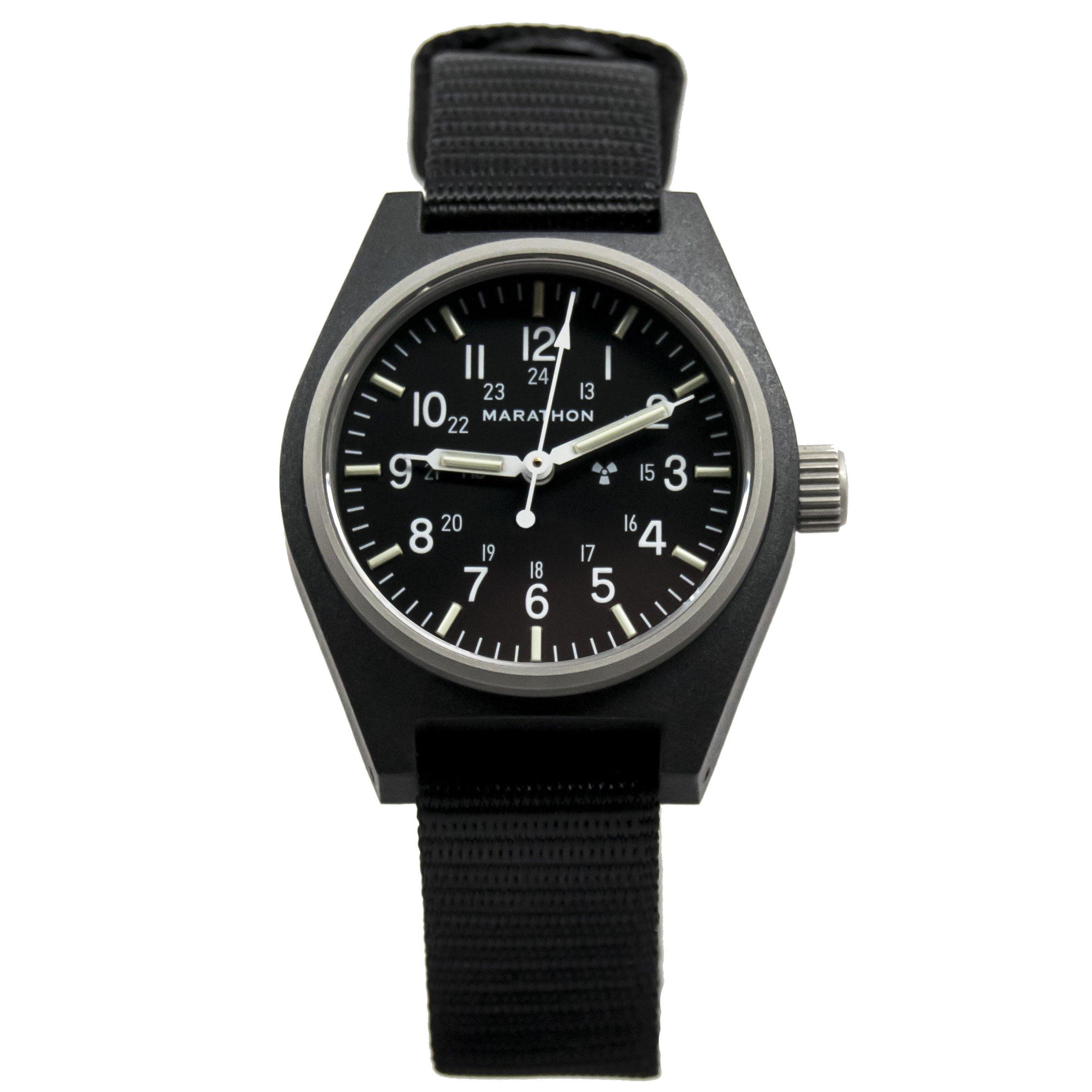MARATHON WW194003BK-NGM General Purpose Mechanical (GPM) Military Field Watch with Tritium and Sapphire Glass (Black-NGM)