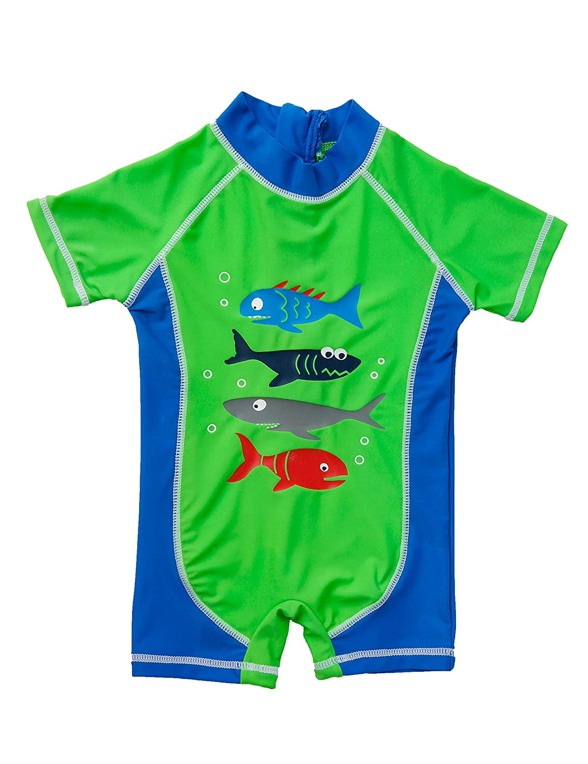 Baby Boys Sun Protection One Piece Shark Swimsuit Set UPF 50+ 3-36months