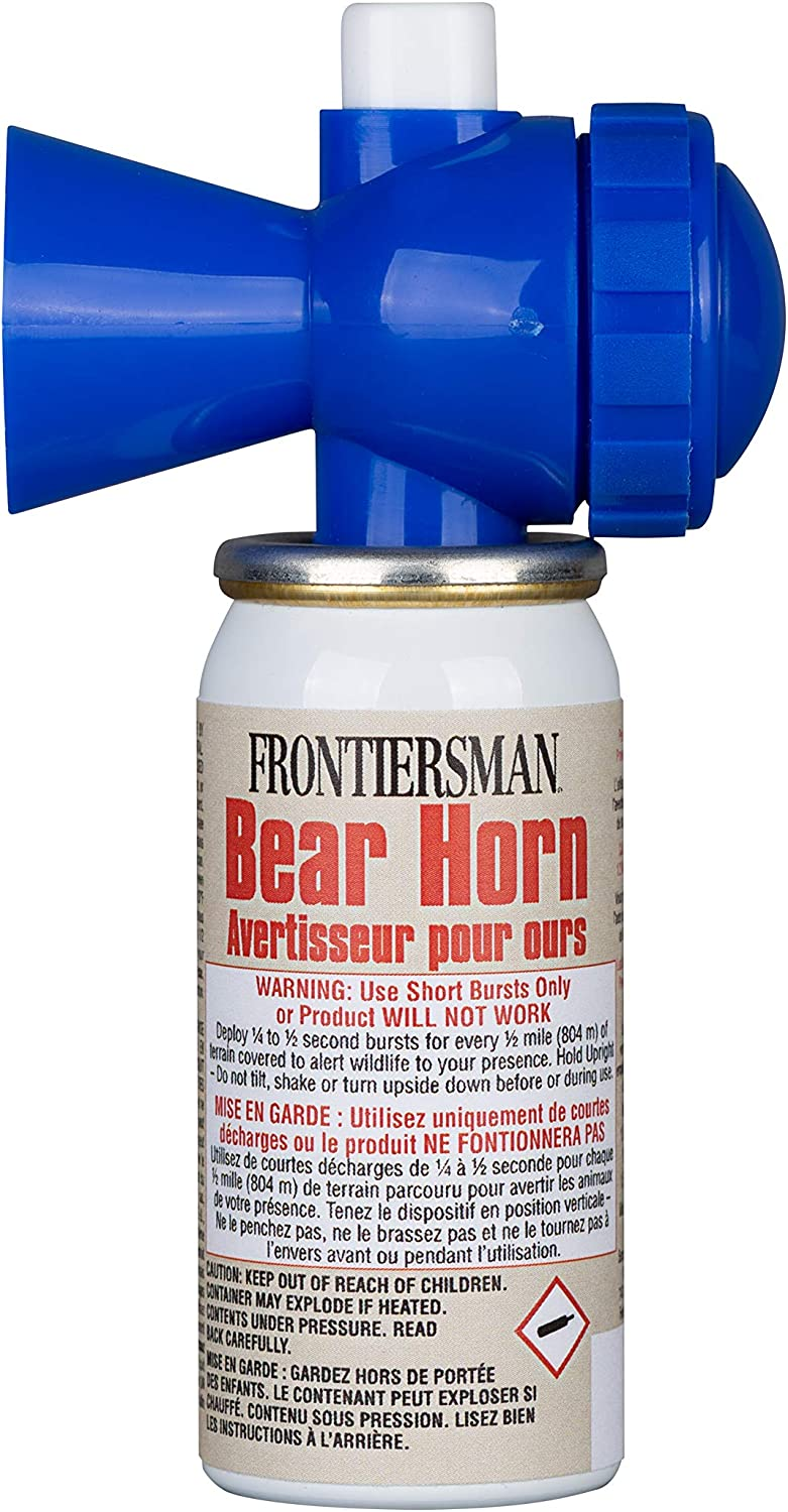 SABRE Frontiersman Bear Horn – Sound Heard Up to ½ Mile (805 M), Warn Bears & Give Them a Chance to Leave – Alert If Lost