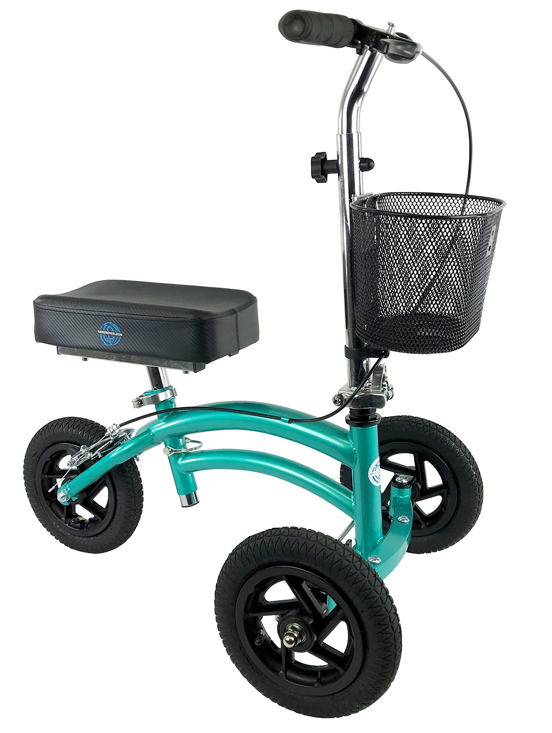 NEW Small Petite Adult All Terrain KneeRover Jr - Steerable Knee Walker Knee Scooter Crutches Alternative in Coastal Teal