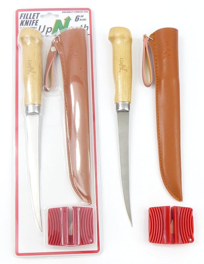 UpNorth Deluxe Fillet Knife/Sheath/Sharpener Set