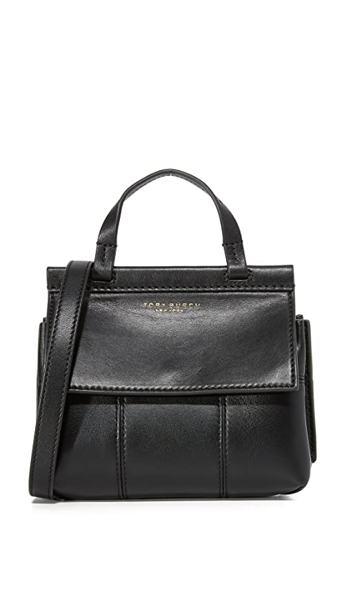 61d15a1d5a3 Buy Tory Burch Block-T Mini Leather Crossbody in Black Online at Low Prices  in India - Amazon.in
