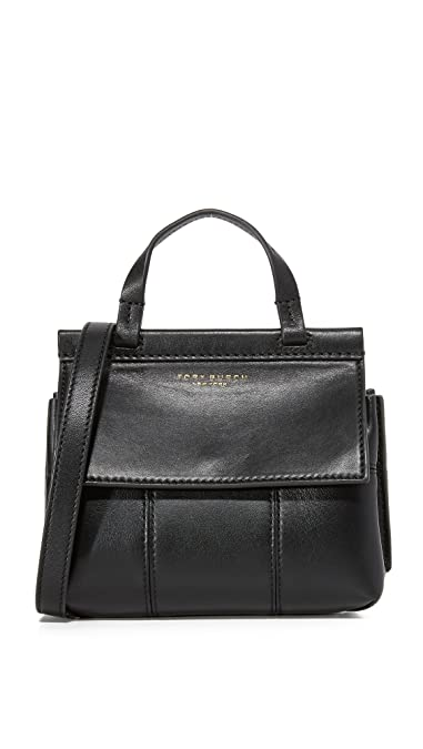 1e1d133028 Tory Burch Women's Block T Mini Top Handle Bag, Black, One Size: Handbags:  Amazon.com