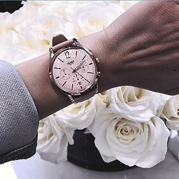 Henry London Reloj Cronógrafo para Mujer de Cuarzo con Correa en ...